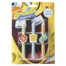 DecoPac 11740 SpongeBob SquarePants Candles - 6 / BX