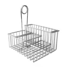 Clipper Mill 4-21699 4-Compartment Chrome Table Caddy