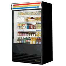 True TAC-48 S-SS Vertical Air Curtain Merchandiser With Sandwich Sign