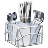 Cal-Mil 587-49 Silver Wire Frame Sunrise Cutlery Holder