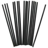 "Wow Plastic 5 mm Dia. 7-3/4"" Jumbo Black Unwrapped Straw"