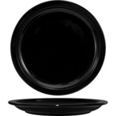 "International Tableware CAN-6 Cancun Black 6-1/2"" Plate - 36 / CS"