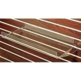 "Clear Solutions 8064SW Acrylic 24"" Flat Shelf with Braces"