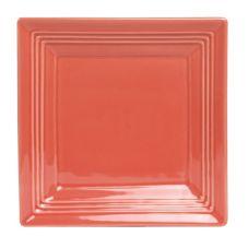 "Tuxton CNH-0845 Concentrix® 8-1/2"" Square Cinnebar Plate - 12 / CS"