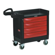 Rubbermaid® FG451388BLA TradeMaster® Black 4-Drawer Cart
