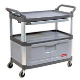 Rubbermaid® FG409400GRAY Xtra™ Locking Door Instrument Cart