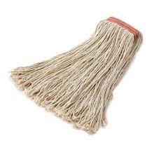 Rubbermaid® FGF21800WH00 White Cotton 8-Ply 24 oz Cut-End Mop