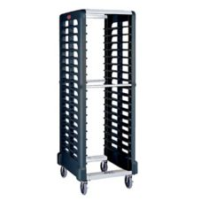 Rubbermaid FG332000BLA Max System 18-Slot End Load Food Box / Pan Rack
