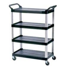 Rubbermaid® FG409600BLA Xtra™ Open Sided 4-Shelf Cart