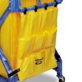 Continental Yellow Vinyl 10-Pocket Caddy Bag for X-Frame Folding Carts