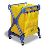 "Continental 275 Huskee™ Blue 37"" X-Frame Folding Cart"