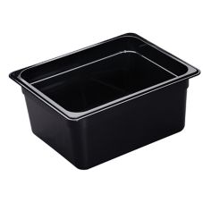 "Cambro® 26HP110 Black Half Size High Heat  6"" H-Pan™"