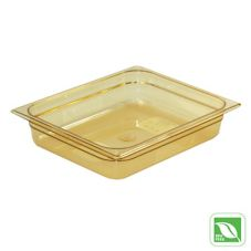 Rubbermaid® FG223P00AMBR Amber 1/2 Size Hot Food Pan