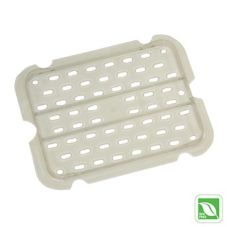 Rubbermaid® FG127P24CLR Clear 1/2 Size Cold Food Pan Drain Tray