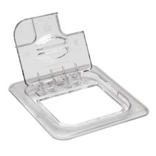 Cambro 60CWLN135 Clear Camwear 1/6 Size Notched Food Pan FlipLid®
