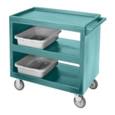 Cambro Slate Blue Open Side 3-Shelf Service Cart