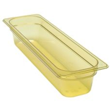 "Cambro Amber Long Half Size High Heat H-Pan™ 4"" H"