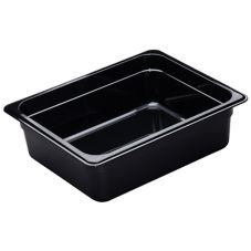 "Cambro 24HP110 Black 4"" H Half Size High Heat H-Pan™"