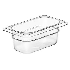"Cambro 92CW135 Clear  2-1/2"" H Camwear® 1/9 Size Food Pan"