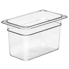 "Cambro® 46CW135 Clear 6"" H Camwear® 1/4 Size Food Pan"