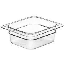 "Cambro® 62CW135 Clear 2-1/2"" H Camwear® 1/6 Size Food Pan"