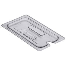 Cambro® 104948 Clear 1/3 Size Notched Food Pan Cover with Handle