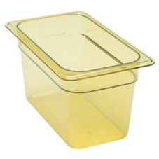 "Cambro® 46HP150 Amber 1/4 Size High Heat 6"" H-Pan™"