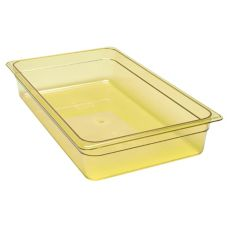 "Cambro® 14HP150 Amber Full Size 4"" High Heat H-Pan™"