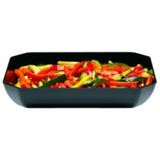 Cambro ShowFest® Black Octagonal 3 Qt Display Bowl