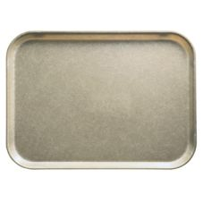 Cambro 1418104 Camtray Desert Tan 14 in. x 18 in. Serving Tray - Dozen
