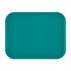 "Cambro® 1418FF414 Teal 14"" x 18"" Fast Food Tray - Dozen"