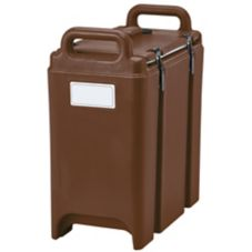 Cambro 350LCD131 Dark Brown 3.5 Gal Soup Camtainer® without Spigot