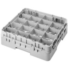 Cambro 20C414151 Camrack® Soft Gray Full Size 20-Compt Cup Rack