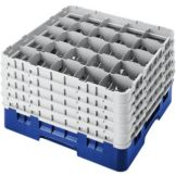 Cambro 25S958186 Camrack® Navy Blue 25 Comp. Full Size Glass Rack