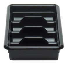 Cambro® 1120CBR110 Black 4-Compartment Regal Cutlery Cambox®