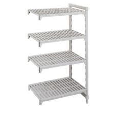 "Cambro CSA48487480 Speckled Gray 72"" High 4-Shelf Add-On Unit"