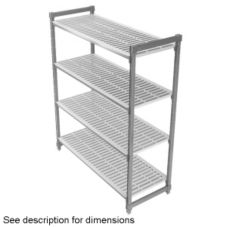 Cambro Camshelving® Gray Vented 4-Shelf Stationary Starter Kit