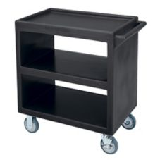 Cambro® BC230110 Black Open Side 3-Shelf Service Cart