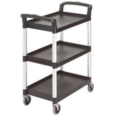 "Cambro BC331KD110 Black 32-7/8"" x 26-1/4"" Knockdown Service Cart"