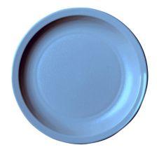 "Cambro 55CWNR401 Camwear Slate Blue 5-1/2"" Narrow Rim Plate - 48 / CS"