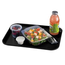 "Cambro® 1216FF110 Black 12"" x 16"" Fast Food Tray - Dozen"