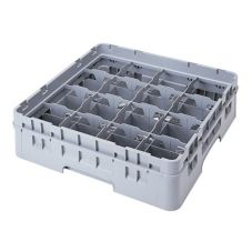 Cambro 16C414151 Camrack® Soft Gray Full Size 16-Compt Cup Rack