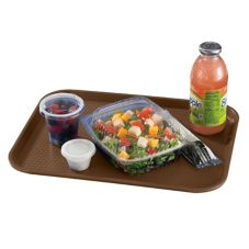 "Cambro 1216FF167 Brown 12"" x 16"" Fast Food Tray - 24 / CS"
