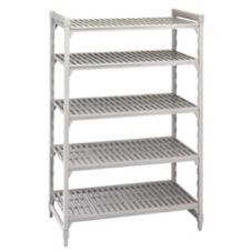 Camshelving CSU54487480 Gray Vented 5-Shelf Stationary Starter Kit