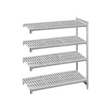 "Cambro CSA44607 Speckled Gray 24"" x 60"" 4-Shelf Add-On Unit"