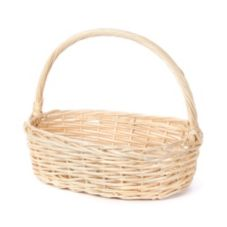 "Willow Specialties 81247.3 20-1/2"" x 14-1/4"" Oval Basket With Handle"