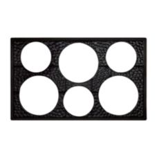 G.E.T. ML-161-BK Black Full Size Tile w/ 6 Cut-Outs f/ Round Crocks