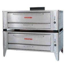"Blodgett Stainless Steel Deck Type 48"" Gas Double Pizza Oven"