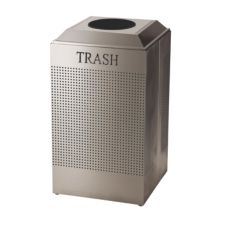 Rubbermaid® FGDCR24TSS Square S/S 29 Gal Trash Recycling Container