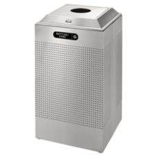 Rubbermaid Square S/S 29 Gal Recycling Container for Cans